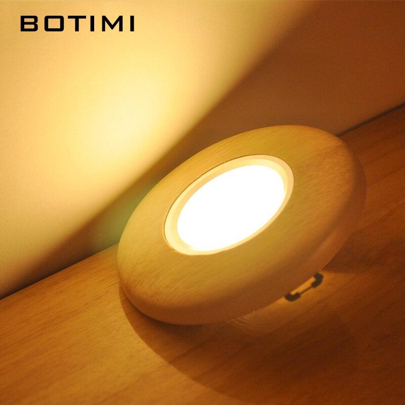 BOTIMI Holz LED Decke Lichter Für Korridor Runde Wohnzimmer Decke Lampe  Moderne Küche Leuchten Schneiden Loch Lampen