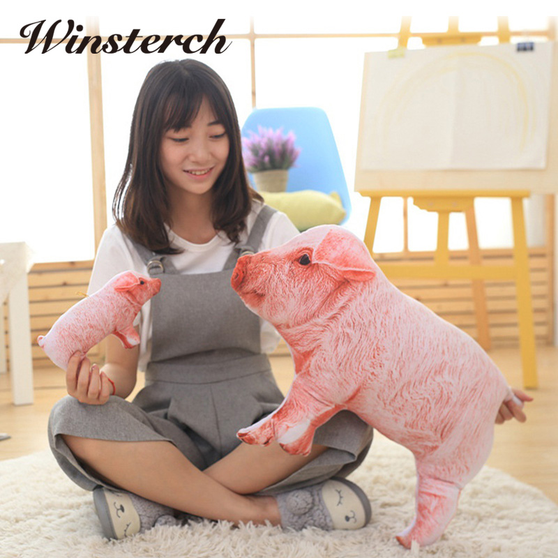 Simulation Pig Baby Doll Lifelike Piggy Plush Toys Stuffed Dolls Pillow Kids Toys Doll Girlfriend Best Gifts Brinquedos WW340 simulation children s toy plush animals stuffed toys doll hamster dolls kawaii gifts guinea pig