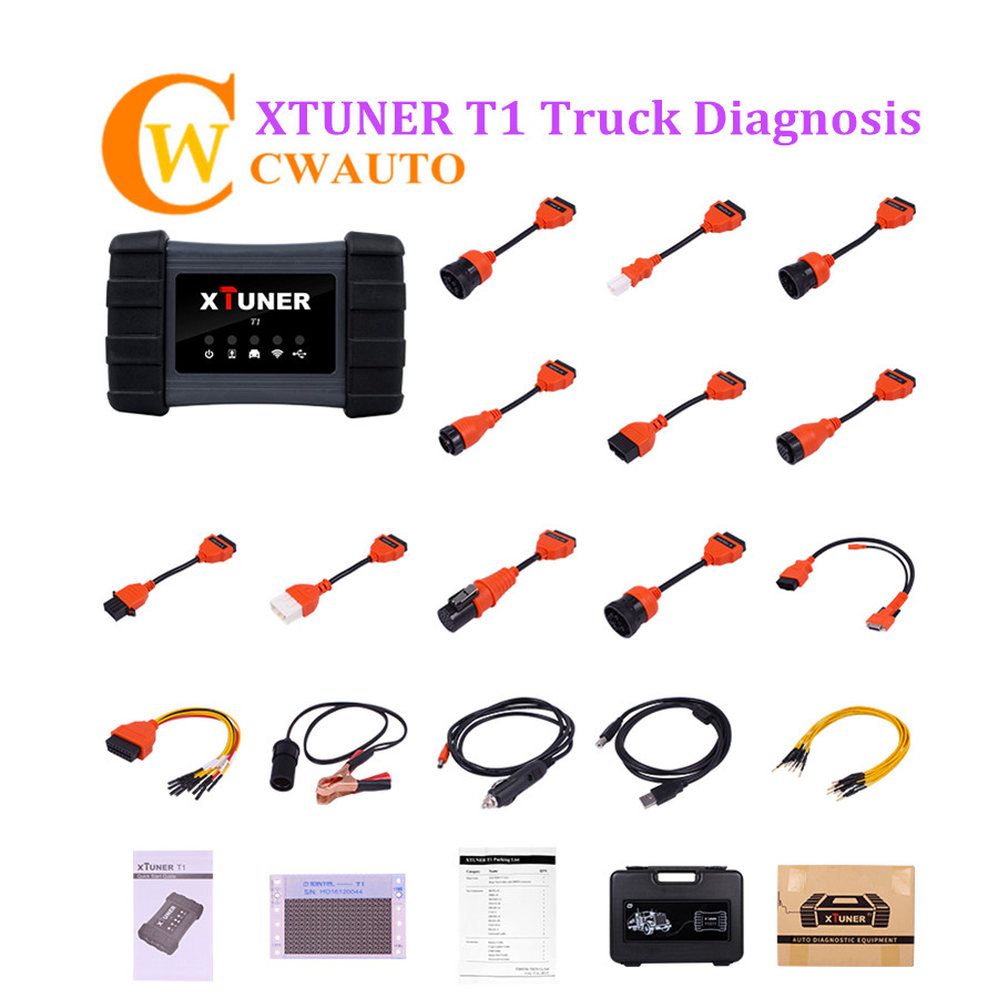 Original Xtuner T1 Heavy Duty Wifi Diagnosis Scanner Support J1939 J1708 and J1587 Protocol Truck Update Online