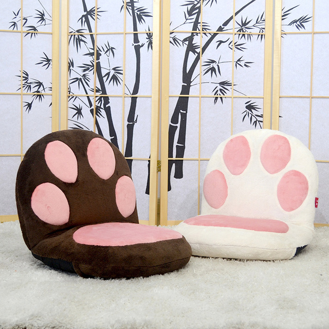 Paw Cushion Seat Floor Folding Chair Legless Puppy Bear Cat Living Room Furniture Lightweight and Portable Japanese Chair