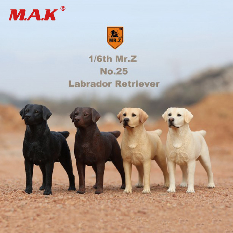 JXK 1//12 Labrador retriever Figure Police Dog Animal Model Collector Toys Gift