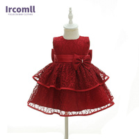 Ircomll Baby Girls New Year Dress 2018 Summer Ball Gown Stack Up Fringed Wedding Birthday Party