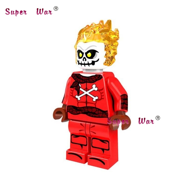 1 pcs star wars super-heróis da marvel dc comics Blazing Crânio Ghost Rider modelos blocos de construção de tijolos brinquedos para as crianças kits