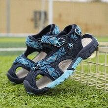 ULKNN 2019 new boy sandals kids version child soft bottom shoes students 7 children 8 9 years old 869