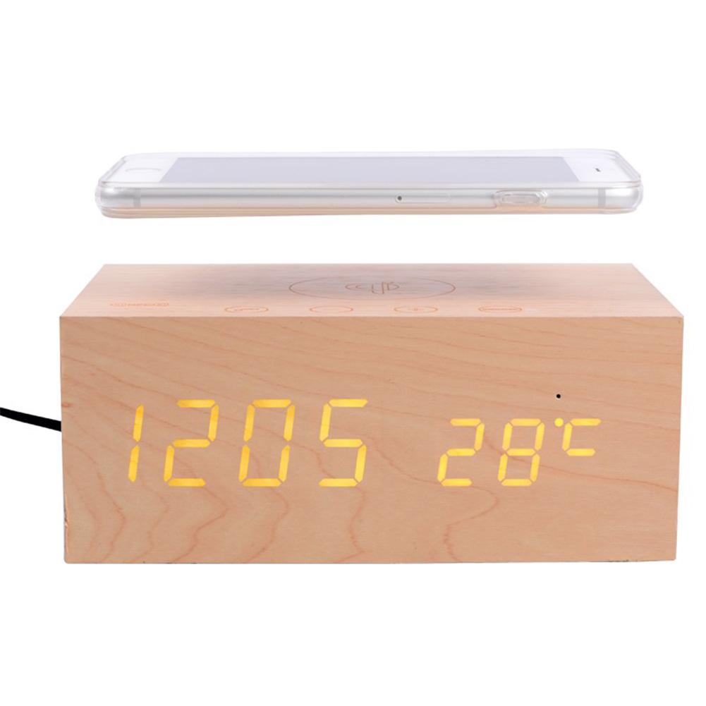 Wireless speaker bluetooth speakers wood universal qi Wireless charger clock thermometers desktop AUX NFC for phone USBWireless speaker bluetooth speakers wood universal qi Wireless charger clock thermometers desktop AUX NFC for phone USB