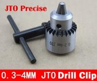 JT0 0.3mm-4mm Precise bit clip drill chuck adjustable bit chuck