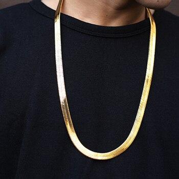 29in 75 cm Cobra Cadeia Nova Moda Estilo Hip Hop Cobra Correntes Correntes de Ouro Colares Jóias Para Bar Club Masculino dom feminino