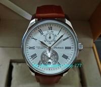 43mm parnis merk Automatische Self-Wind machines beweging Mechanische horloges Gangreserve mannen horloges groothandel o41