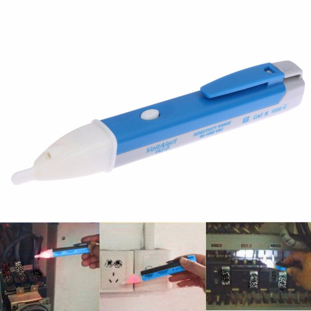 90 1000V Electric Socket Wall AC Power Outlet Voltage Alert Detector Sensor LED Tester LED Indicator