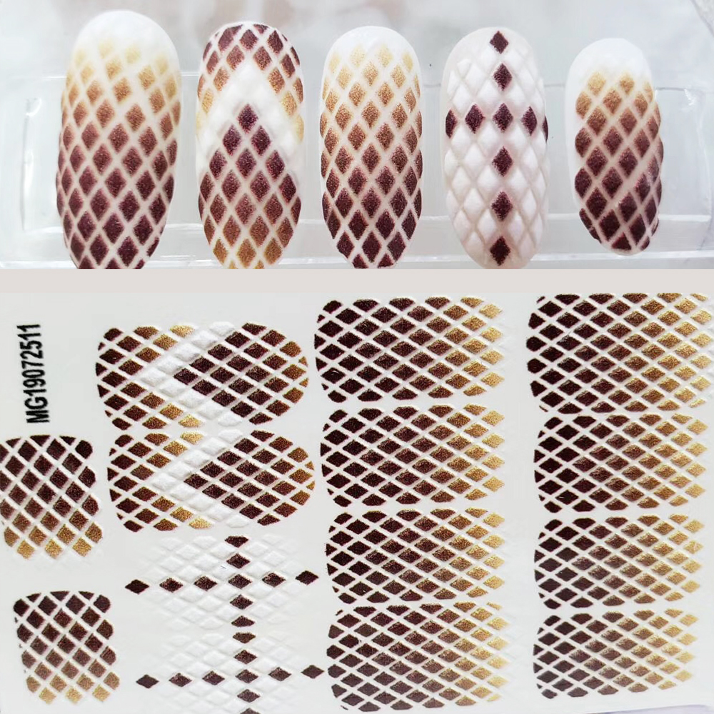 3D Acrylic Engraved Flower Nail Sticker Flower YELLOW LINE Water Decals Empaistic Nail Water Slide Decals Hot Z0179