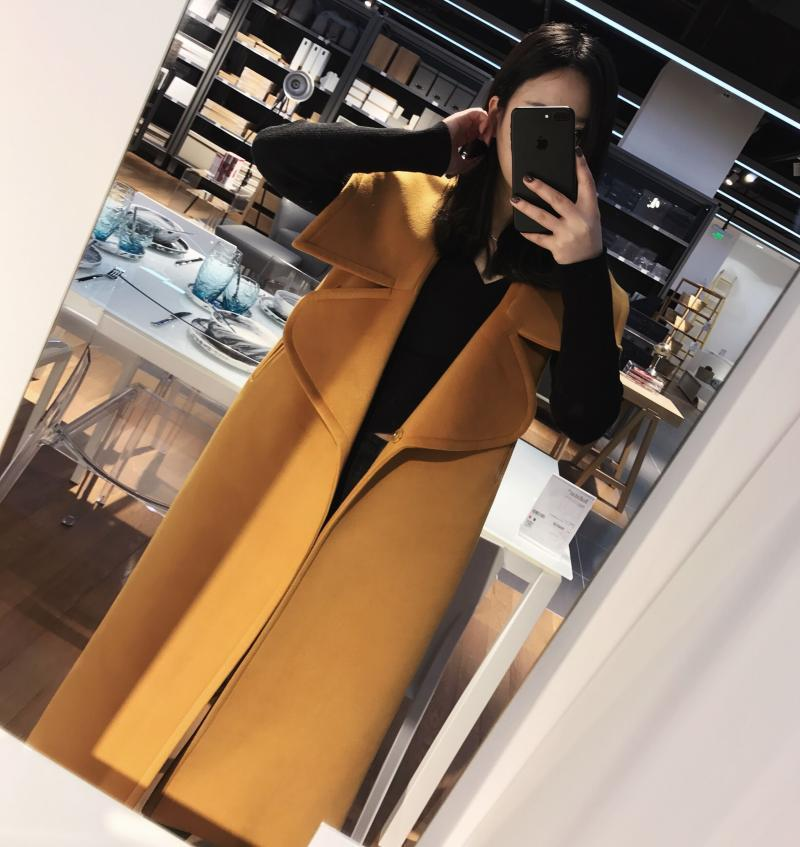 Yellow Automne down Bouton Mode Gilet Nouvelle Turn 2018 Deat Couvert D'arrivée Kb950 Col Lady Poches Solide Manches Hiver Femmes gI76yYvbf