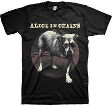 ALICE IN CHAINS Dog Logo T SHIRT Brand New Official T Shirt t shirt printing places Casual  Cotton  O-Neck  Broadcloth женские блузки и рубашки shirt new brand 2015 o