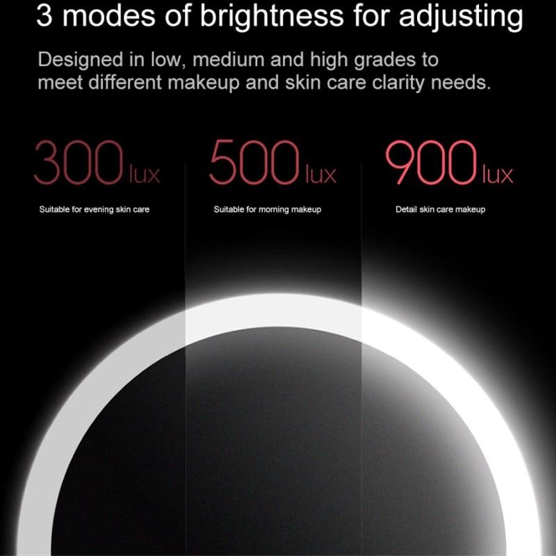Xiaomi Mijia AMIRO HD Mirror Daylight Cosmetic Makeup Led Mirror Lamp 2000mAh Dimmable Adjustable Countertop 60 Degree Rotating