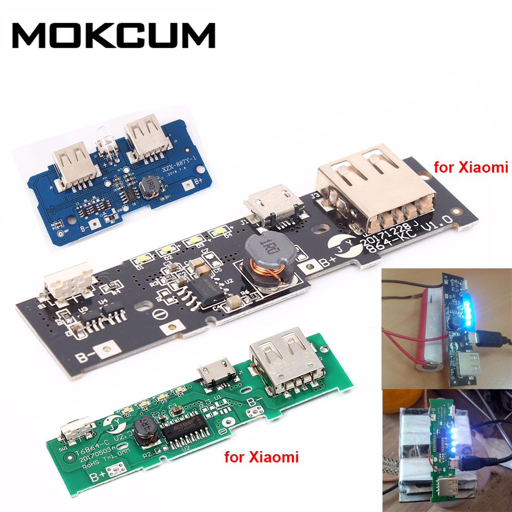 5V 2.1A Power Charger Module Power Bank Circuit Board PCB Step Up Boost Power Supply Module DIY 18650 Battery For Xiaomi