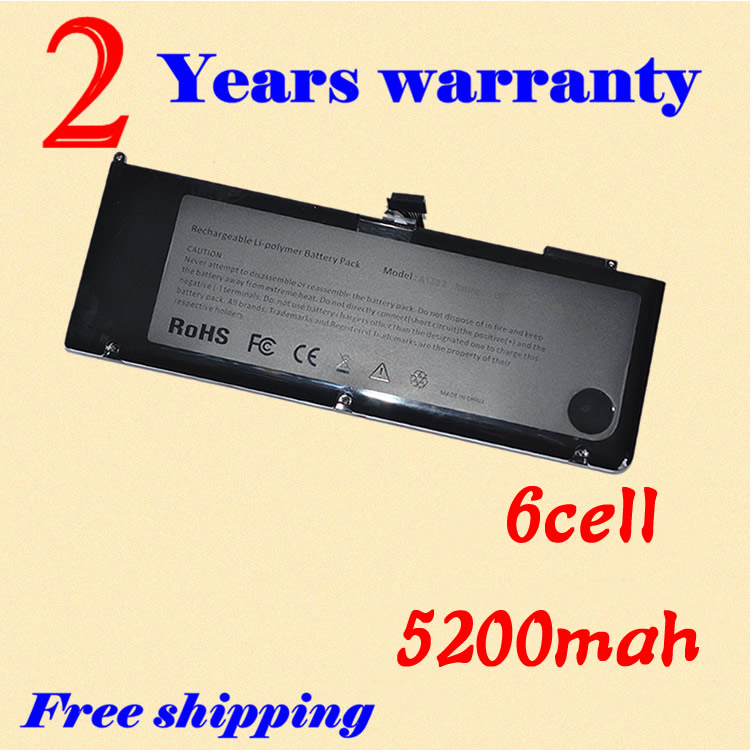 JIGU Battery FOR A1382,020-7134-01,661-5844,FOR MacBook Pro 15,FOR Macbook Pro MC723LL/A & MC721LL/A,A1286 FOR Macbook Pro 2011 for a11120700010