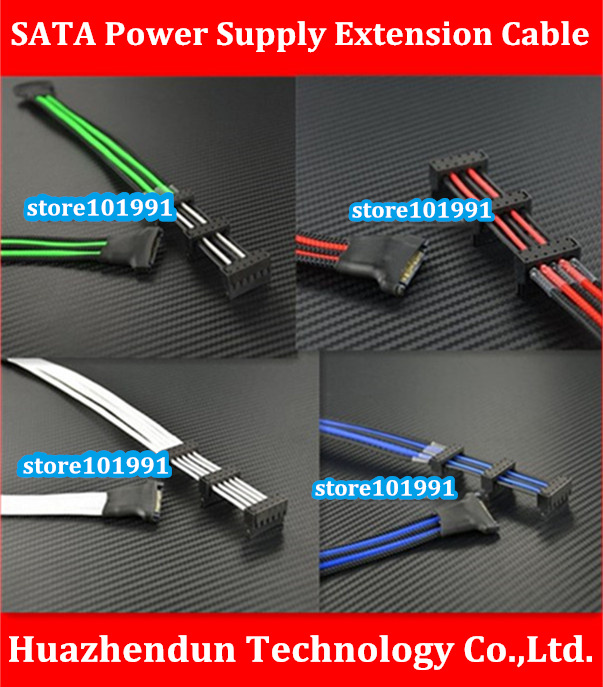 High Quality Refined Wire   30CM  Computer  Hard  Drive  Power  Extension  Cable   SATA Hard Disk Power Supply  Adapter  Cable high quality atx 24pin motherboard power extension cable 30cm four colors for your choice 18awg 24pin extension cable