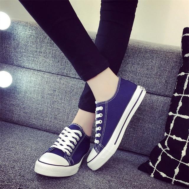 Новое Прибытие Женщин Классический Холст Повседневная Обувь женщин Zapatillas Суперзвезда Круглым Носком Квартиры Zapatos Mujer