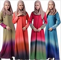Мусульманин платье абая для женщин Исламского платья дубай кафтан Исламская одежда Мусульманская абая Платье турецкий джилбаба хиджаб 034