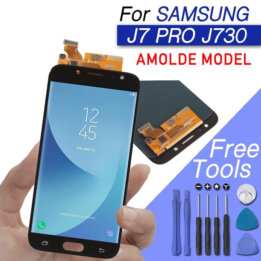 Écran LCD pour Samsung galaxy J7 2017 affichage J7 PRO 2017 lcd AMOLED original avec écran tactile J730 J7310 J730F J730M J730H