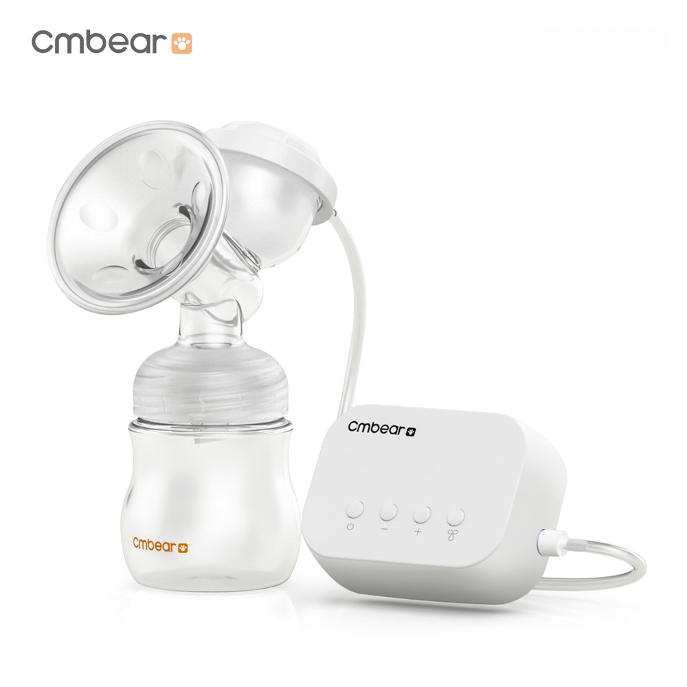 Cmbear Electric Breast Pump USB BPA Free With Milk Bottle Baby Breastfeeding 180-Degree  ...