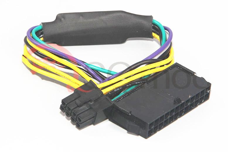 ATX 24Pin femelle à pour DELL Optiplex 3020 7020 9020 T1700 serveur carte mère 8Pin mâle adaptateur câble d'alimentation cordon 30 cm 18AWG