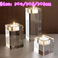 3pcs Is A Set Of Size 5 4 5 6 5 8cm Crystal Glass Candlestick Transparent