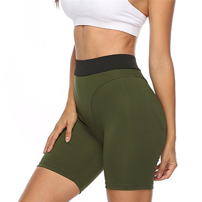 Sport Accessories Women Sexy Yoga Leggings High Waist Slim Solid Short Leggings Sport Fitness Short Sport 40MY24 (8)
