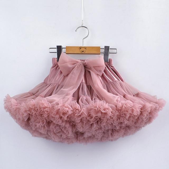 Bé Gái Tutu Váy Fluffy Trẻ Em Múa Ba Lê Trẻ Em Pettiskirt Bé Cô Gái Váy Lớn Nơ Vải Tuyn Váy Khiêu Vũ Bên cho Cô Gái giá rẻ
