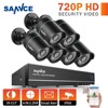 SANNCE 8CH 1080P HDMI Output CCTV System 6PCS 720P TVI Home Security CCTV Cameras Waterproof IR