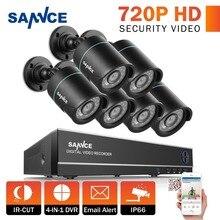 SANNCE 8CH 1080P HDMI Output CCTV System 6PCS 720P TVI Home Security CCTV Cameras Waterproof IR Night video Surveillance Kit