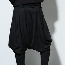 Европейский стиль, однотонные Свободные Штаны для боевых искусств, брюки для мужчин, Hapkido Hakama, черные спортивные штаны для мужчин, удобная ткань