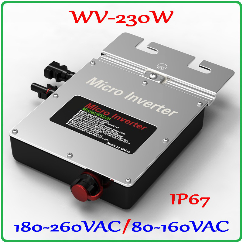 230W 22-50VDC Micro Grid Tie Inverter Pure Sine Wave Output for 200W-300W 30V 36V PV Solar Panel MPPT on grid inverter maylar 22 60v 300w solar high frequency pure sine wave grid tie inverter output 90 160v 50hz 60hz for alternative energy