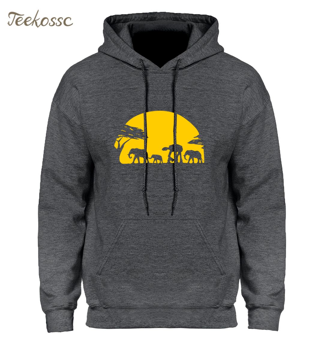 Elephants And Imperial Walker Across African Safari Hoodie Men Go All Out Screenprinting Hoodies Mens Youth Hooded Sweatshirts