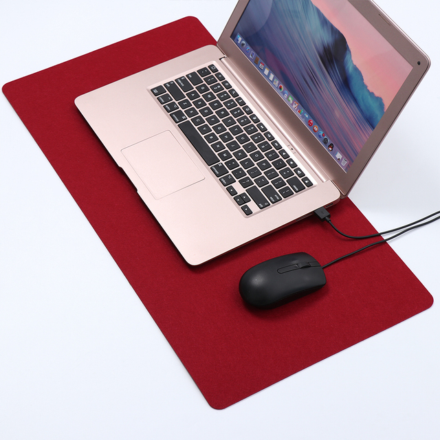 1pc Large Office Computer Desk Mat Modern Table Keyboard Mouse Pad Wool Felt Laptop Cushion Soft Office Supplies