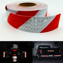 5x10m Reflective Safety Warning Conspicuity Tape Marking Film Sticker for Industry Transport Contruction Range цена 2017