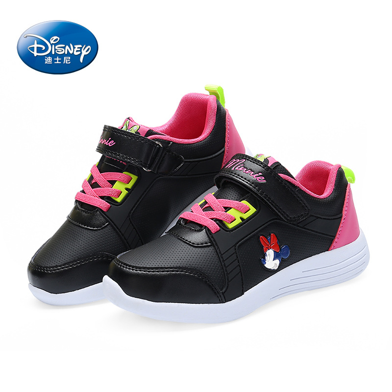 Disney cartoon Minnie children's shoes 2018 spring new non slip student shoes girls sports casual shoes Breathable size 31 37-in Sneakers from Mother & Kids    3