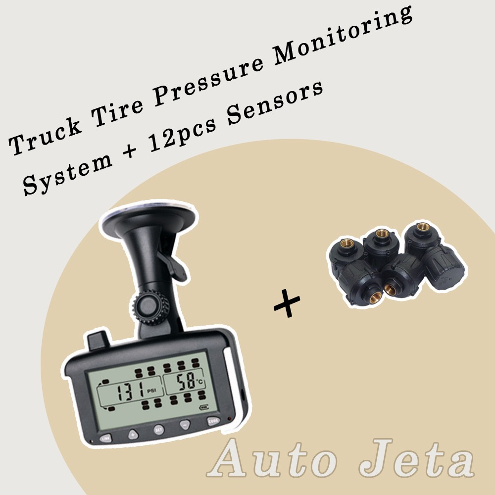 Tire Pressure Monitoring System Car TPMS with External 6 8 10 12 Sensors for Truck Trailer