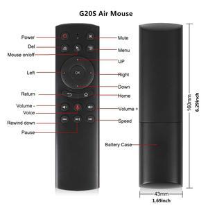 Image 2 - Голосовой пульт дистанционного управления G20S, беспроводная аэромышь 2,4 ГГц, микрофон, гироскоп, ИК обучение для Android tv box T9 H96 Max X96 mini