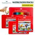 Акварельный карандаш Faber Castell  набор оловянных карандашей 12/24/48/60/72  водорастворимый пастельный карандаш  карандаши для акварели