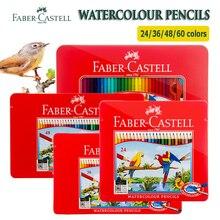 Faber Castell  Watercolor Pencil 12/24/48/60/72 Tin Set Lapis De Cor Water Soluble Pastel Crayon Paragraph Aquarelle Pencils