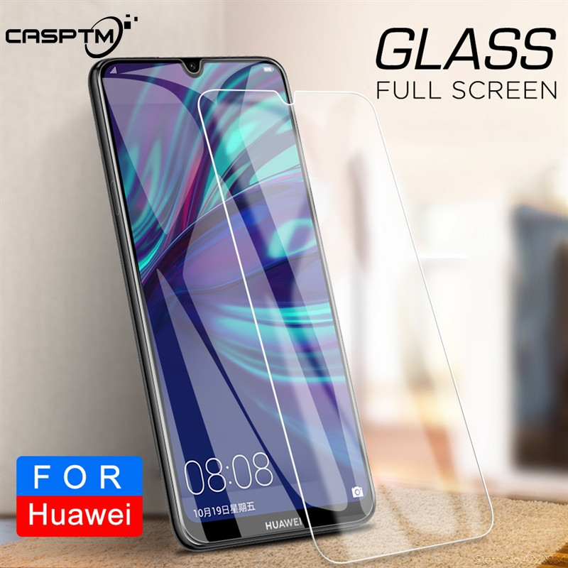 HD Tempered Glass For Huawei Y9 Y7 Y6 Y5 Pro 2019 Y9 Y7 Y6 Y5 Prime 2018 Transparent Thin Clear Cover Screen Protector Slim Film