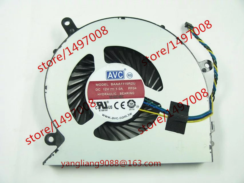 Free Shipping For AVC BAAA1115R2U, PF04 DC 12V 1.0A 4-wire 4-pin connector 70mm Server Laptop Cooling fan free shipping for avc baaa0705r5hpoff dc 5v 0 40a 4 wire 4 pin connector server cooling square fan