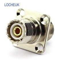 UHF Женский коаксиальный кабель RF разъем SO239 PL259 антенна УВЧ УКВ 4 отверстия фланец адаптер для монтажа на панель