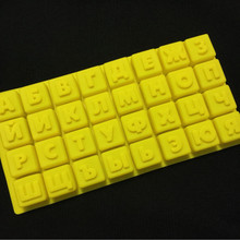 Russian Alphabet 3D Baking Kitchen Silicone Chocolate Mold as Cake Dessert Decoration for Chocolate Soap Candy Cake Cookie DIY