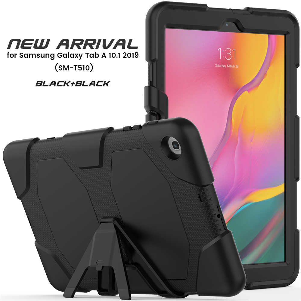 Kids Shockproof case For Samsung Galaxy Tab A 2019 SM-T510 SM-T515 T510 T515 Tablet Stand cover for Tab A 10.1 2019 + pen + film