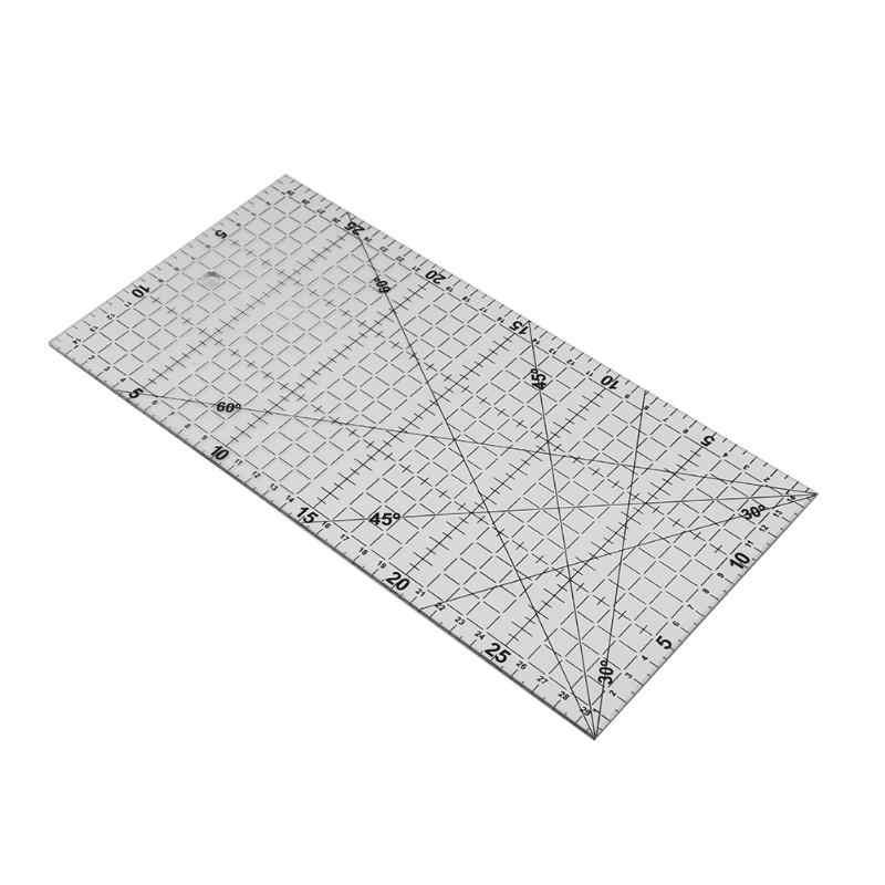 1 pieza de regla de Patchwork herramientas de acolchado de tela acrílica gruesa regla para tela de Patchwork DIY herramientas de acolchado de costura