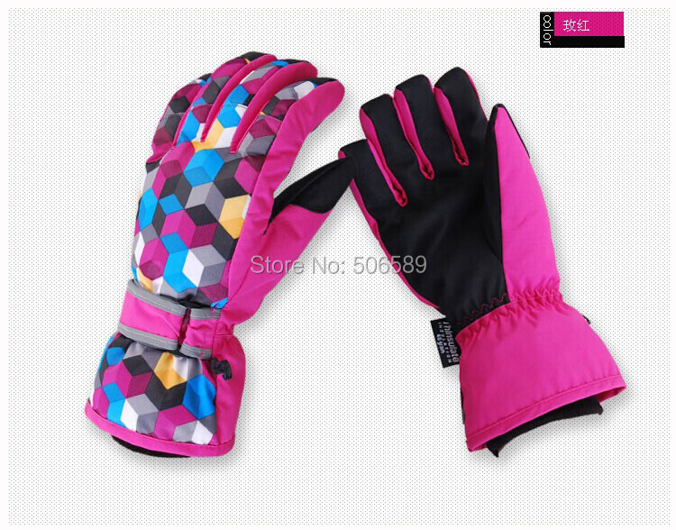 free shipping skiing gloves water-proof warm keep