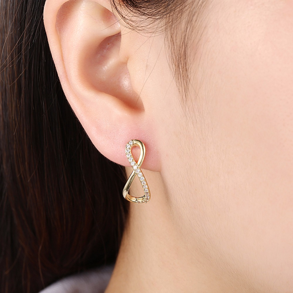 Fashion Jewellery Hot Sale Crystal Infinity Earrings Stud For ...