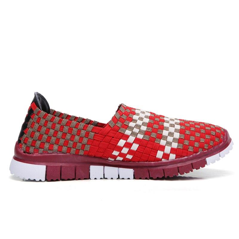 Chaussures Sur Top rouge Mocassins Tissé Multi Sneakers bleu Low Noir Plat Femmes Printemps Appartements Slip Femme Couleurs 1vqOxwOa