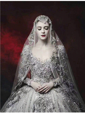 Luxury Dubai Long Sleeves Wedding Dresses 2019 Crystal Beaded Puffy Bridal Gowns Vintage Backless Wedding Gowns Robe De Mariee цена
